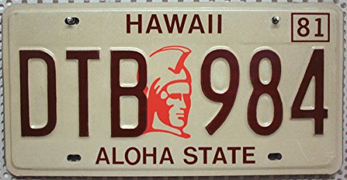 USA Nummernschild HAWAII ~ US Kennzeichen License Plate ~ Blechschild