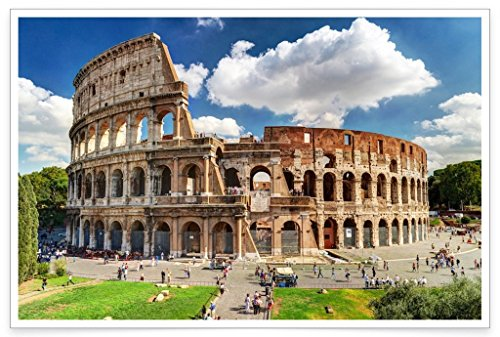 WonderwallPosters PH009A2 Italien Rom Kolosseum Poster Souvenir Bilder Wandbild Wanddeko Dekoration Deko Wohnung 42 x 61 cm