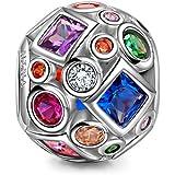 NINAQUEEN La Vida de Colores Abalorio de mujer de plata de ley Charms beads fit Pandora pulseras