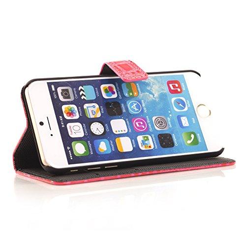 "inShang iPhone 6 Plus Coque iPhone 6+ 5.5"" Housse de Protection Etui pour Apple iPhone 6 5.5 Inch, Cuir PU de premiere qualite, + inShang Logo Qualite Pens Haute Stylet capacitif crocodile rose red"