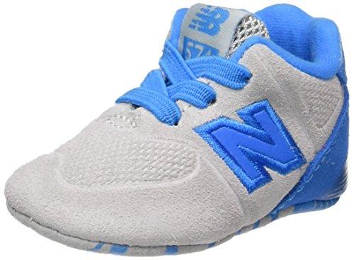 New Balance, Unisex-Kinder Sneaker, Mehrfarbig (Grey/blue), 15 EU (0 UK Child) (Baby New Schuhe Balance Junge)