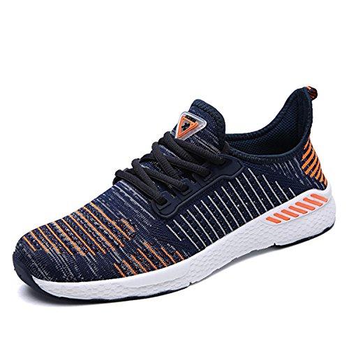 unisex Sportschuhe Atmungsaktives Mesh Wander Belüftung Trekking Wanderhalbschuhe Sneakers Outdoorschuhe Casual Schuhe Sommerschuhe, 44 EU, Farbe: Orange
