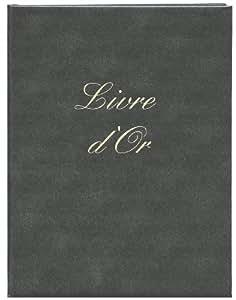 Elve Livre d'or Format 22x17cm 148 pages Couverture aspect cuir Noir