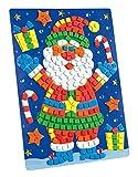 folia 23810 - Moosgummi Mosaikbild Weihnachtsmann, 402 teile