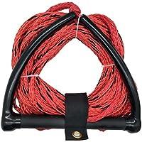 Jranter - Cuerda de esquí con Mango de Radio y empuñadura de Goma EVA, Color Rojo, Unisex Adulto, Rojo, 70 Feet