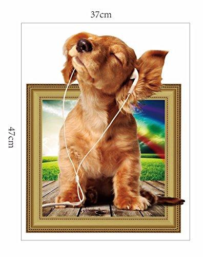 Weihnachts-Dekoration für Halloween 3D-Sticker (Hund) Foto/Kreativ/Simulation/Stereo/Heimtextilien/Wände/Dekoration/Sticker/Aufkleber (40 * 50 cm)