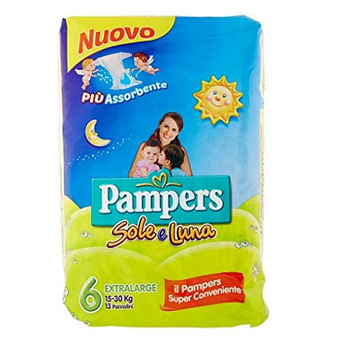 Pampers sole e luna Gr.6 13 Windeln 15-30 kg kinder baby diapers Packung