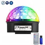 Eyourlife Lampe de Scène RGB LED 9 Couleurs Commande Sonore avec Télécommande Bluetooth USB Lecteur MP3 Jeux de Lumière Disco Light Spot Projecteur Effet DJ Éclairage