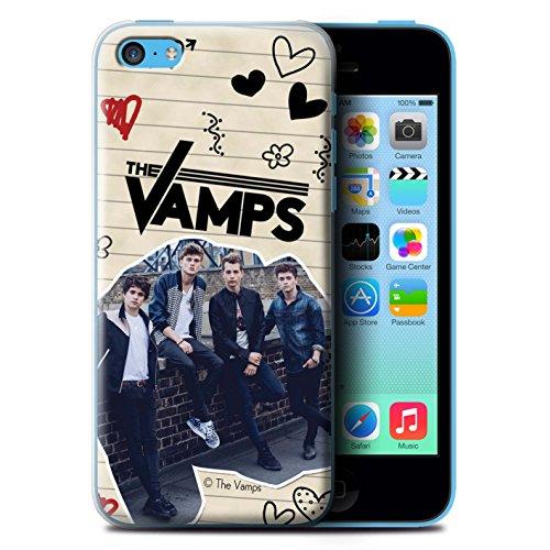 Officiel The Vamps Coque / Etui pour Apple iPhone 5C / Pack 5Pcs Design / The Vamps Livre Doodle Collection Stylo Noir