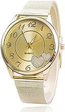 Relojes Pulsera Mujer,Xinan Reloj de Oro Malla reloj Venda