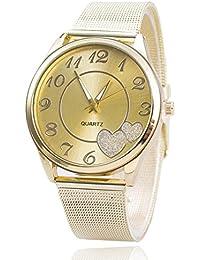 Relojes Pulsera Mujer,Xinan Reloj de Oro Malla reloj Venda (Oro)