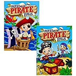 Libro de piratas para colorear Petey & His Pirate.