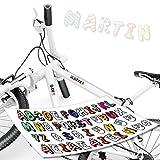 style4Bike Buchstaben Aufkleber Set (46) Buchstaben - Namen Einfach Selbst Gestalten - Beschriftung Fahrrad-Aufkleber