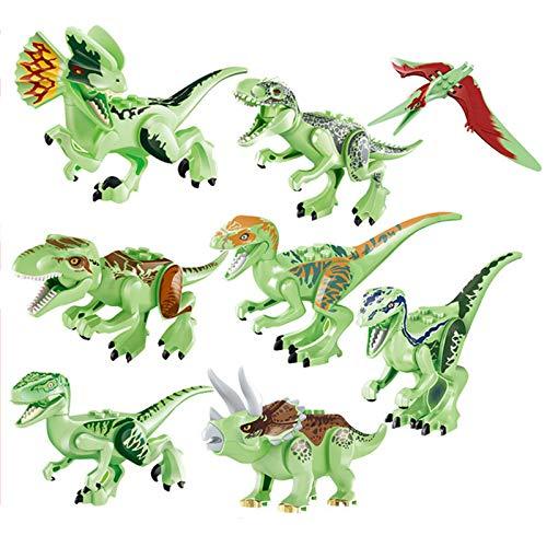 Magic show 8 Stücke World Dinosaurier Nacht Leuchtenden Dinosaurier Gebäude Ziegel Blöcke Spielzeug - 24 Stück Dinosaurier-puzzle