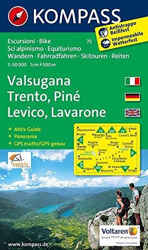 Valsugana Trento 75 GPS wp kompass D/I/E par Kompass-Karten