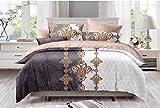 LAZZARO Schlichte und schöne Motiv, Gemustert, pflegeleicht, bügelfrei Bettbezug-Set, doppelt, Baumwollmischung, Multi, King Size