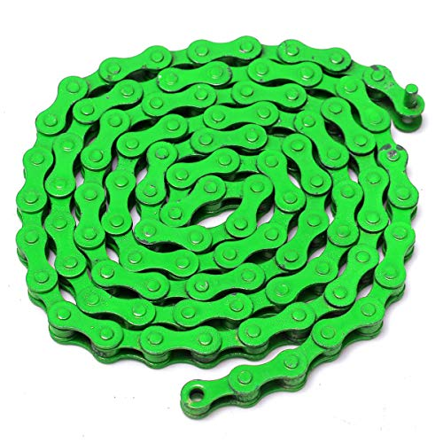 Forspero 1/2 x einhalb-8inch 96 Links Single Speed Colorful Chain Fixed Gear MTB BMX Fahrrad Sport Road - Grün -