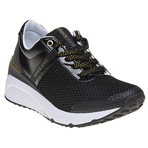 Versace Jeans Donna Runner Femme Baskets Mode Noir Noir