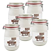 Guru Kokosöl nativ & naturrein -Bio Qualität- (5 x 1000ml Bügel-Glas)