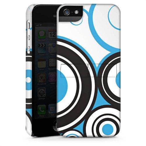 Apple iPhone 4 Housse Étui Silicone Coque Protection Cercles Motif Motif CasStandup blanc