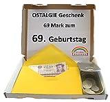 WallaBundu OSTALGIE Geschenkidee - 69 Mark zum 69. Geburtstag (1950) – Mit ca. 11 verschieden Umlaufmünzen aus der DDR Zeit – EIN symbolisch wertvolles Geschenk – Nostalgie