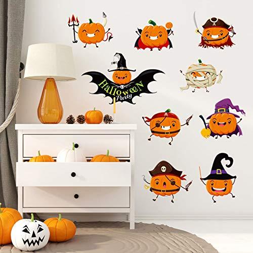 Wandmalereien, Halloween-Kürbis-Fenster-Wohnzimmer-Ecken-Aufkleber-Wand-Dekorativer Pvc-Wand Sticker45X60Cm (Machen Sie Einen Halloween-kürbis Letzte)