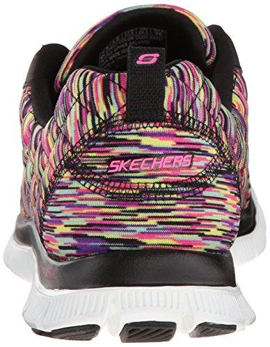 SkechersFlex Appeal Arrowhead - Scarpe Running donna Nero (Black (Bkmt))