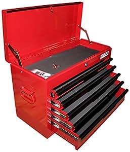 TNT de PROTOOLS Coffre à outils mallette outils Box, boîte à outils, Angel, boîte à outils 5tiroirs, rouge, 12010063