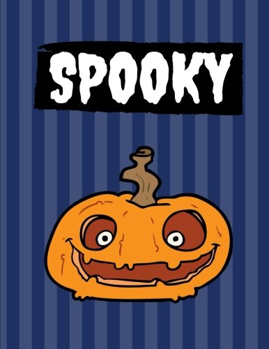 Spooky: 100 Pages Ruled, Midnight Blue, Halloween Notebook, Journal, Diary (Large, 8.5 x 11) (Halloween ()