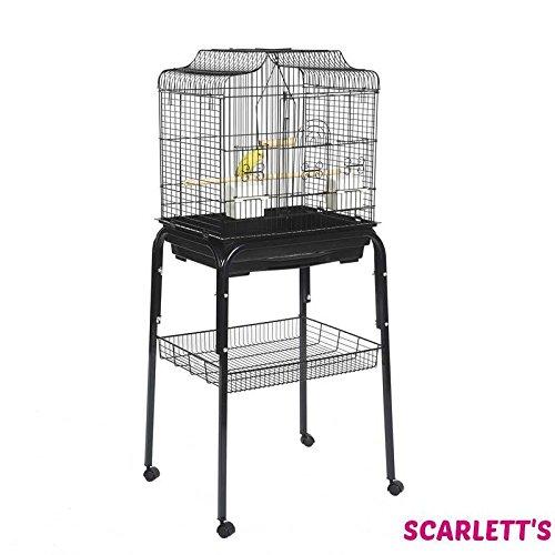 Liberta Siam Wellensittich Kanarienvogel schwarz Vogelkäfig mit C1Ständer