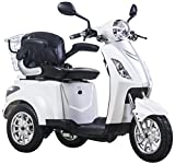 Scooter, E-Mobile, Senior véhicule, E de Tricycle rouge 25 km/h (Blanc)