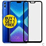 Djmate Honor 8X 6D Tempered Glass Full Glue Honor 8X Screen Protection For Honor 8X - Pack Of Two(2)