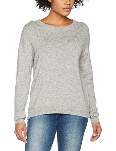 GANT Damen Pullover Cashmere Blend Sweater, Grau (Grey Melange), 8 (Herstellergröße: X-Small) Cashmere-blend Sweater