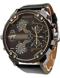 Herren-Uhr, großes Zifferblatt XXL, doppelte Anzeige, Only the Brave