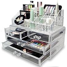 LaRoc Clear Acrílico Cosméticos Organizador Con Cajones Maquillaje Joyas Caja De La Caja De Presentación