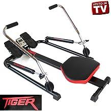 Vogatore TIGER Power Rower Pistoni Idraulici Palestra Fitness Braccia RM4030