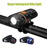 LED Fahrrad Beleuchtung,LC-dolida USB Wasserdicht Fahrradlampe Taschenlampe Mit...