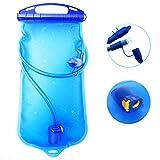 Poche Hydratation DeFe 1.5L TPU Réservoir d'eau Système Hydratation Vessie Sans BPA Approuvé par FDA Portable pour Camping Randonnée Voyager Course Vélo Escalade Sport Extérieure (1.5L)