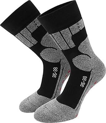2 Paar Allround Sport - Wander - und Skate-Socken mit Spezialpolsterung Größe 35-38