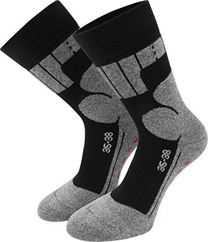 3 Paar Allround Sport - Wander - und Skate-Socken mit Spezialpolsterung Farbe Schwarz/Grau Größe 35/38