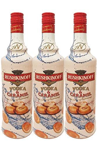 Rushkinoff Vodka & Caramelo Antonio Nadal, Sparkpaket 3er Pack (3 x 1,0 l)