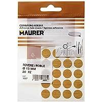 MAURER 5440114 - Tapatornillos Adhesivos Roble (blíster 20 unidades)