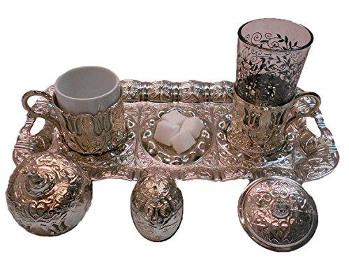 ORIENTALISCHE MOKKASERVICE ESPRESSO SET TÜRKISCHE KAHVE SETI EDELSTAHL Espressotassen Set