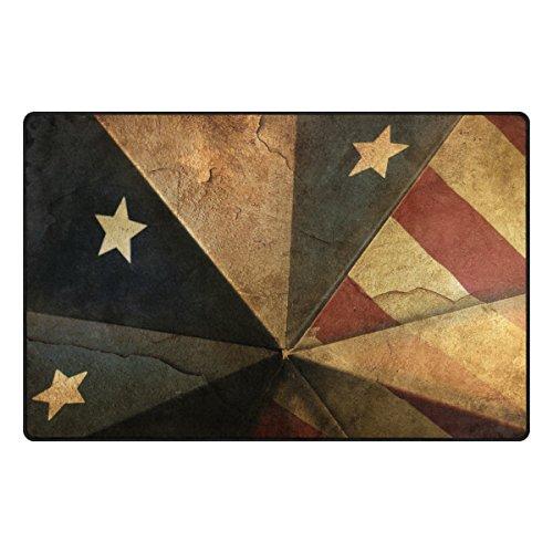 MALPLENA American Bald Eagle Teppich Eintrag Way Fußmatte Fußmatte Bereich Teppich Bodenmatten Schuhe Schaber für Wohnzimmer/Esszimmer/Schlafzimmer/Küche Rutschfeste, Polyester, 3, 60 x 39 inch
