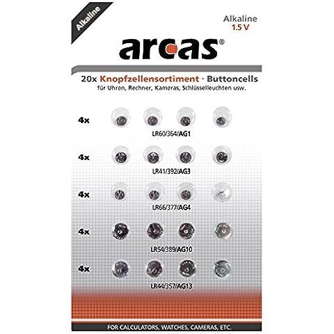 Arcas 127 92000 - Pack de 20 pilas 1.5 V