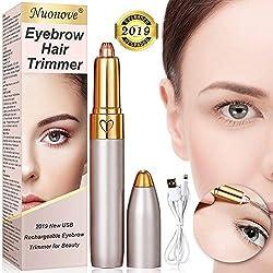 Augenbrauen Rasier, Augenbrauen Trimmer, augenbrauentrimmer USB, Led Licht Augenbrauen Entferner, Lippenstift-Design, Schärfe/Sicherheit/Schmerzloses