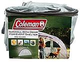 Seitenwand für Coleman Event Shelter Pro XL 4,5 x 4,5 m, 1 Pavillon Seitenteil mit Tür und Fenster, Seitenplane, dient auch als Sonnenschutz, wasserabweisend, grau