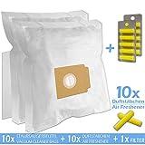 SPARSET - 10 Duftstäbchen + 10 Staubsaugerbeutel geeignet für EIO Pro Edition Varia, Quigg Compact Home E-CO 2 Aldi