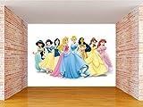 Envouge Kid's 3D Design Washable Barbie Wallpaper , 3 X 2 ft, Multicolour