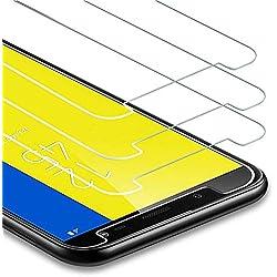 Zloer [Pack de 3] Verre Trempé Samsung Galaxy J6 Plus 2018 Film Protection Ecran - [9H Dureté] [Anti Rayures] [sans Bulles, Facile à Installer] pour Protection Ecran Samsung Galaxy J6 Plus 2018